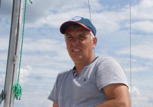 Jacek Smuszkiewicz podczas IV Regat Grand Prix Jeziora Powidzkiego w Jabłonie